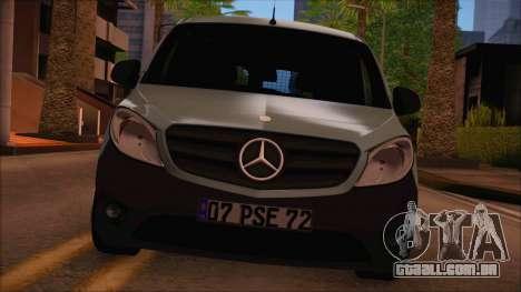 Mercedes-Benz Citan Stock 2013 para GTA San Andreas traseira esquerda vista