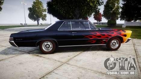 Pontiac GTO 1965 Flames para GTA 4 esquerda vista