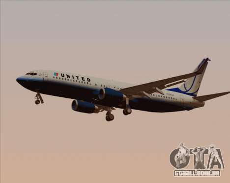 Boeing 737-800 United Airlines para GTA San Andreas interior