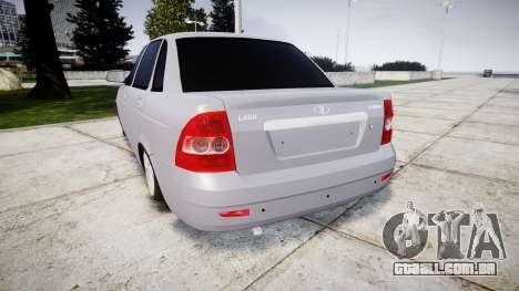VAZ-2170 melhor para GTA 4 traseira esquerda vista