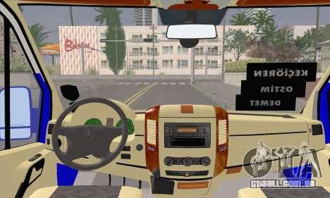 Mercedes-Benz Sprinter Ostim Dolmus para GTA San Andreas vista direita