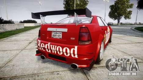 Albany Presidente Racer [retexture] Redwood para GTA 4 traseira esquerda vista