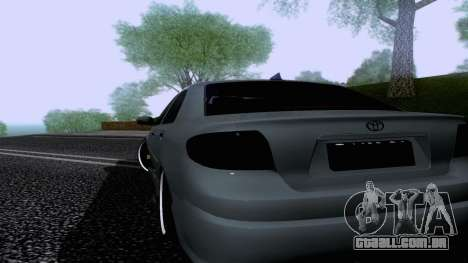 Toyota Vios Extreme Edition para GTA San Andreas esquerda vista