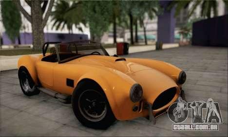 Shelby Cobra V10 TT Black Revel para GTA San Andreas vista traseira