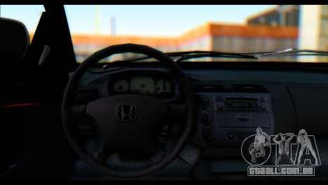 Honda Civic VteC para GTA San Andreas traseira esquerda vista