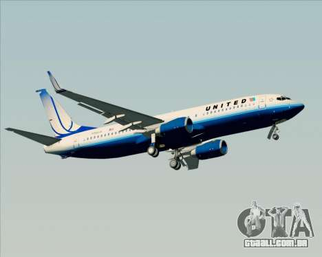 Boeing 737-800 United Airlines para as rodas de GTA San Andreas