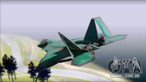 F-22A Raptor Unpainted Factory Texture para GTA San Andreas esquerda vista