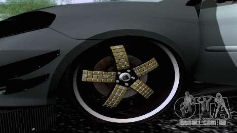Toyota Vios Extreme Edition para GTA San Andreas traseira esquerda vista