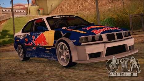 BMW E36 Coupe Bridgestone Red Bull para GTA San Andreas