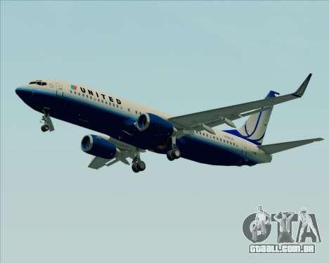 Boeing 737-800 United Airlines para GTA San Andreas esquerda vista