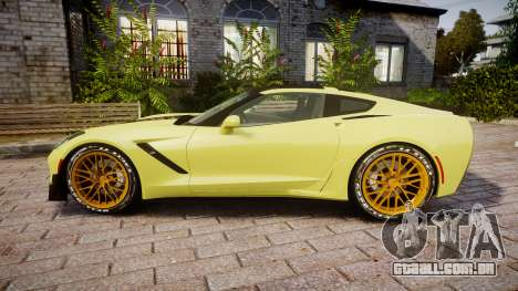Chevrolet Corvette Z06 2015 TireGY para GTA 4 esquerda vista