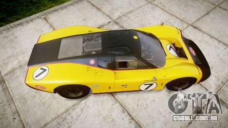 Ford GT40 Mark IV 1967 PJ Fernando Pedace 7 para GTA 4 vista direita
