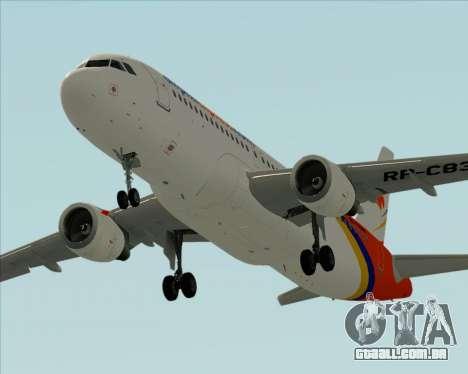 Airbus A320-200 Airphil Express para o motor de GTA San Andreas