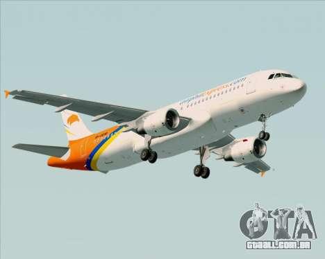 Airbus A320-200 Airphil Express para as rodas de GTA San Andreas