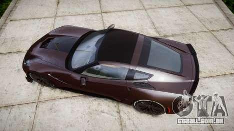 Chevrolet Corvette Z06 2015 TireYA2 para GTA 4 vista direita