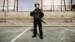 Uniformes grupos de assalto especial. armas