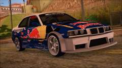 BMW E36 Coupe Bridgestone Red Bull para GTA San Andreas