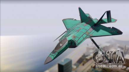 F-22A Raptor Unpainted Factory Texture para GTA San Andreas