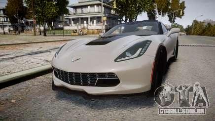 Chevrolet Corvette Z06 2015 TireBFG para GTA 4