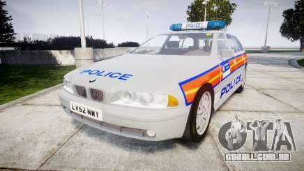BMW 525i E39 Touring Police [ELS] JSARVV para GTA 4