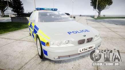 BMW 525i E39 Touring Police [ELS] BTV para GTA 4