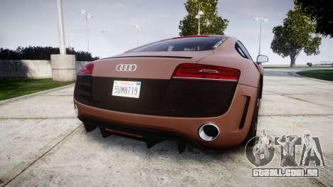 Audi R8 plus 2013 Wald rims para GTA 4 traseira esquerda vista