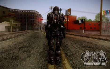 Shepard N7 Defender from Mass Effect 3 para GTA San Andreas segunda tela