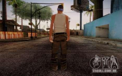 New Fam Skin 2 para GTA San Andreas segunda tela