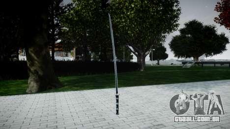 Espada Samurai para GTA 4 segundo screenshot