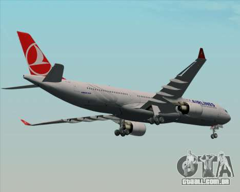 Airbus A330-300 Turkish Airlines para GTA San Andreas vista interior