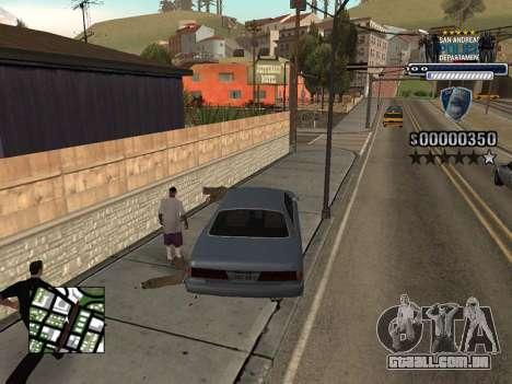 Police HUD para GTA San Andreas por diante tela