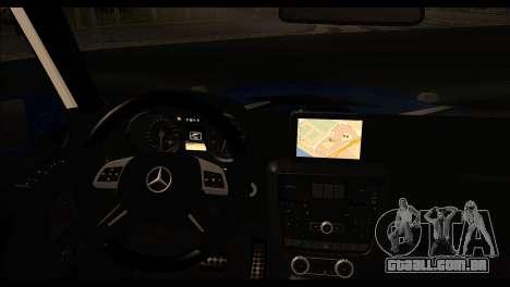 A Mercedes-Benz G65 AMG para GTA San Andreas traseira esquerda vista