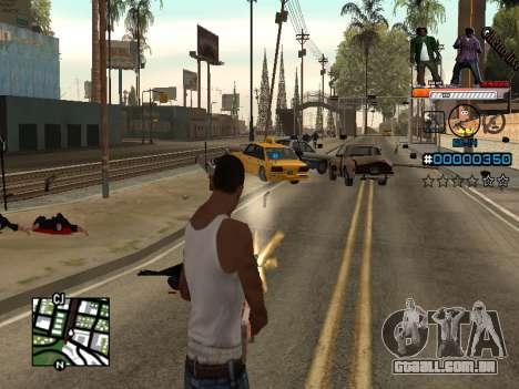 C-HUD Ghetto Live para GTA San Andreas