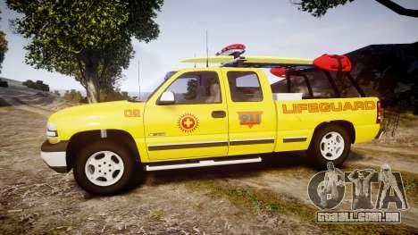 Chevrolet Silverado Lifeguard Beach [ELS] para GTA 4 esquerda vista
