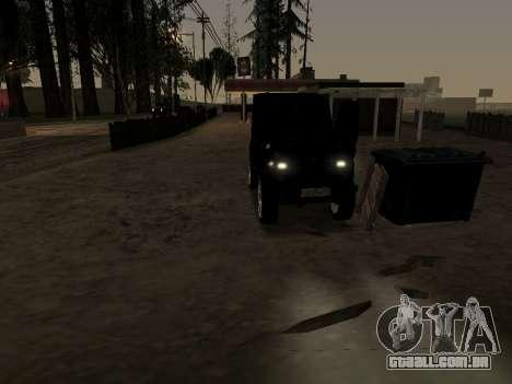 UAZ 469 para GTA San Andreas vista interior
