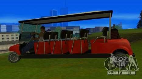 Caddy Restyle para GTA San Andreas esquerda vista