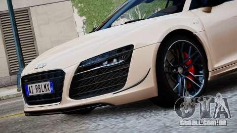 Audi R8 LMX 2015 EPM para GTA 4 traseira esquerda vista