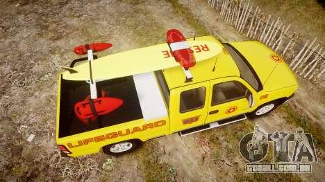 Chevrolet Silverado Lifeguard Beach [ELS] para GTA 4 vista direita