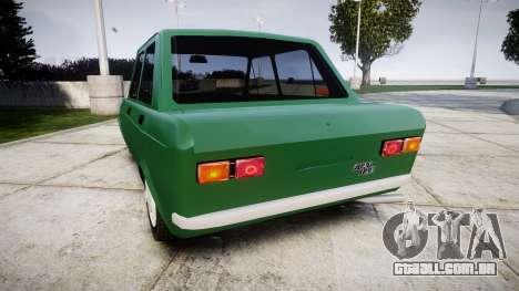 Fiat 128 Berlina para GTA 4 traseira esquerda vista