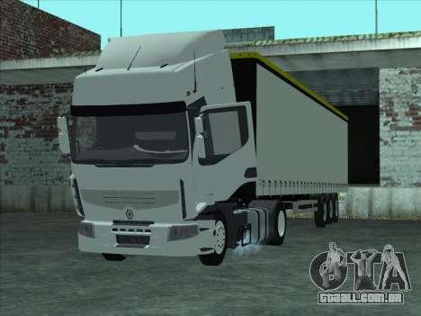 Renault Premium para GTA San Andreas traseira esquerda vista