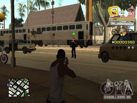 C-HUD Sponge Bob para GTA San Andreas terceira tela