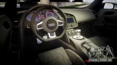 Audi R8 plus 2013 Wald rims para GTA 4 vista lateral