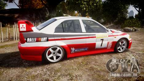 Mitsubishi Lancer Evolution VI Rally Edition para GTA 4 esquerda vista