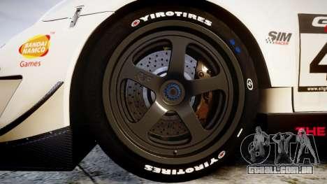 RUF RGT-8 GT3 [RIV] Project CARS para GTA 4 vista de volta