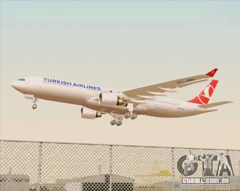 Airbus A330-300 Turkish Airlines para as rodas de GTA San Andreas