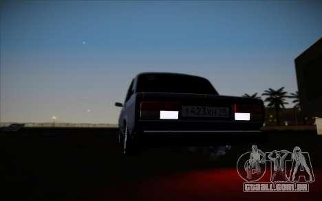 VAZ 2107 para GTA San Andreas vista traseira