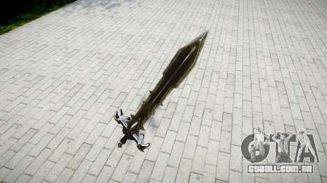 A espada do cavaleiro Negro- para GTA 4 segundo screenshot