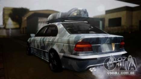 BMW M5 E39 Camouflage para GTA San Andreas esquerda vista