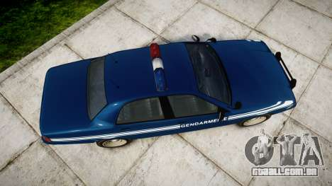 GTA V Vapid Police Cruiser Gendarmerie1 para GTA 4 vista direita