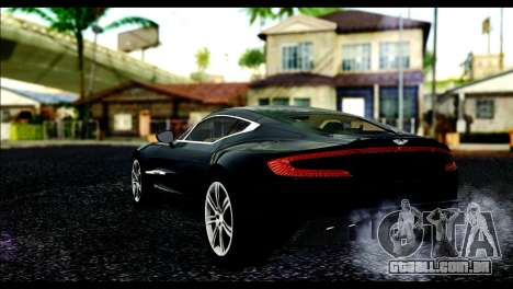 Aston Martin One-77 Beige Black para GTA San Andreas esquerda vista